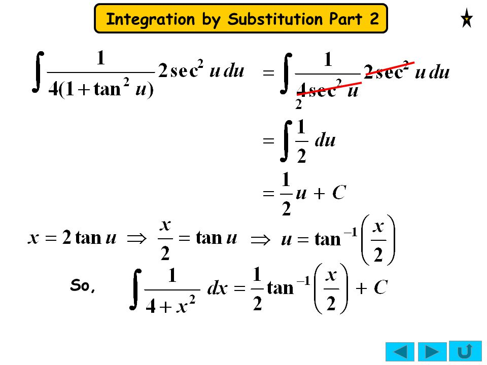 Integration by Substitution Part 2 Show that x = sin 2 θ transforms x = sin 2 θ Using rule for brackets
