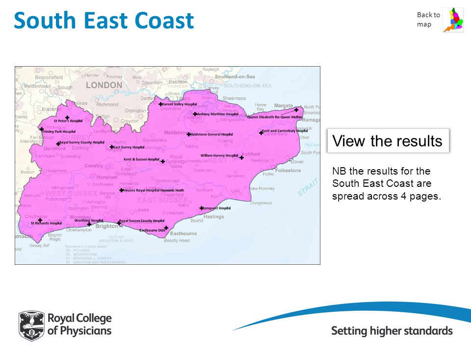 South East Coast Back to map View the results NB the results for the South East Coast are spread across 4 pages.