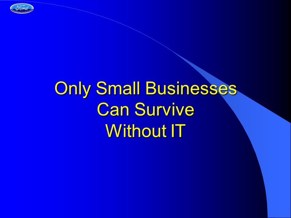 Only Small Businesses Can Survive Without IT