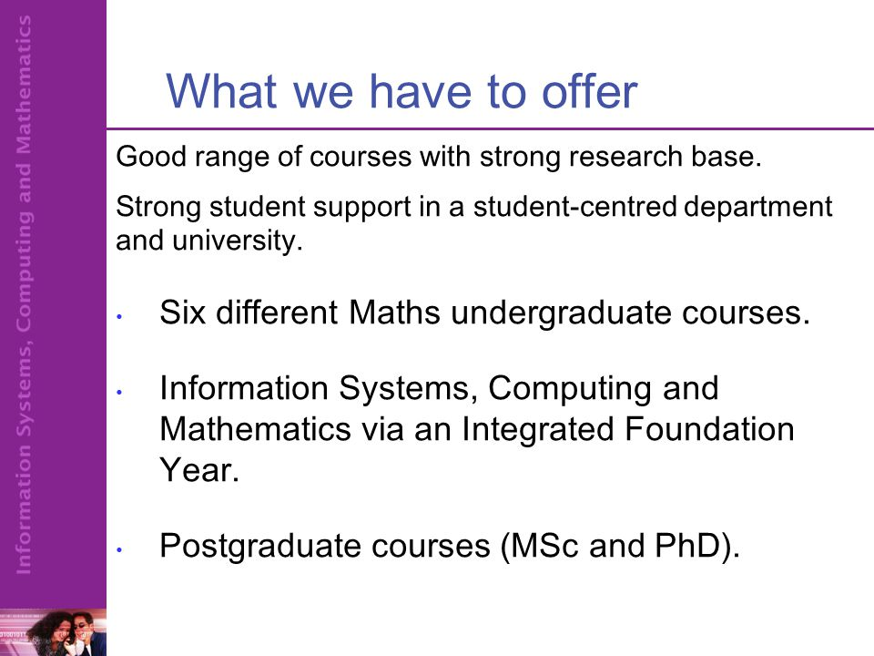 Foundation Year  A pre-degree year for those qualified to start on a degree course.