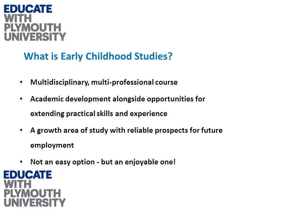 What is Early Childhood Studies.