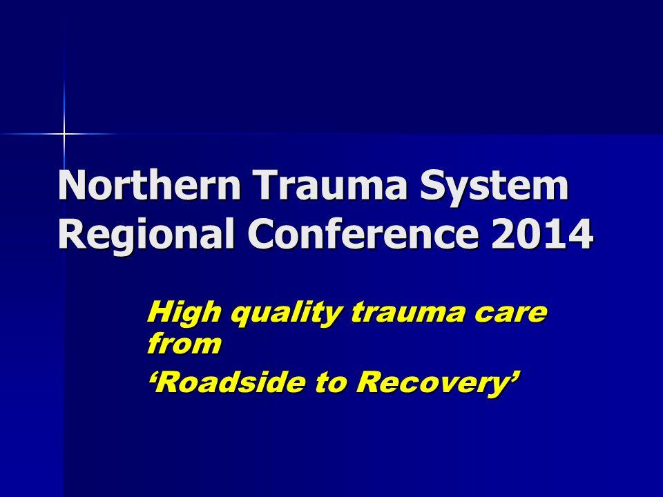RVI JCUH Map of region North of region Trauma Network North of region Trauma Network –MTC – RVI –TU WGH - Wansbeck WGH - Wansbeck NTGH - North Tyneside NTGH - North Tyneside STGH - South Tyneside STGH - South Tyneside QEH – Gateshead QEH – Gateshead SRI – Sunderland SRI – Sunderland UHND – Durham UHND – Durham Cumberland infirmary Cumberland infirmary South of region Trauma Network South of region Trauma Network –MTC – JCUH –TU NTUH - North Tees NTUH - North Tees DMH - Darlington DMH - Darlington
