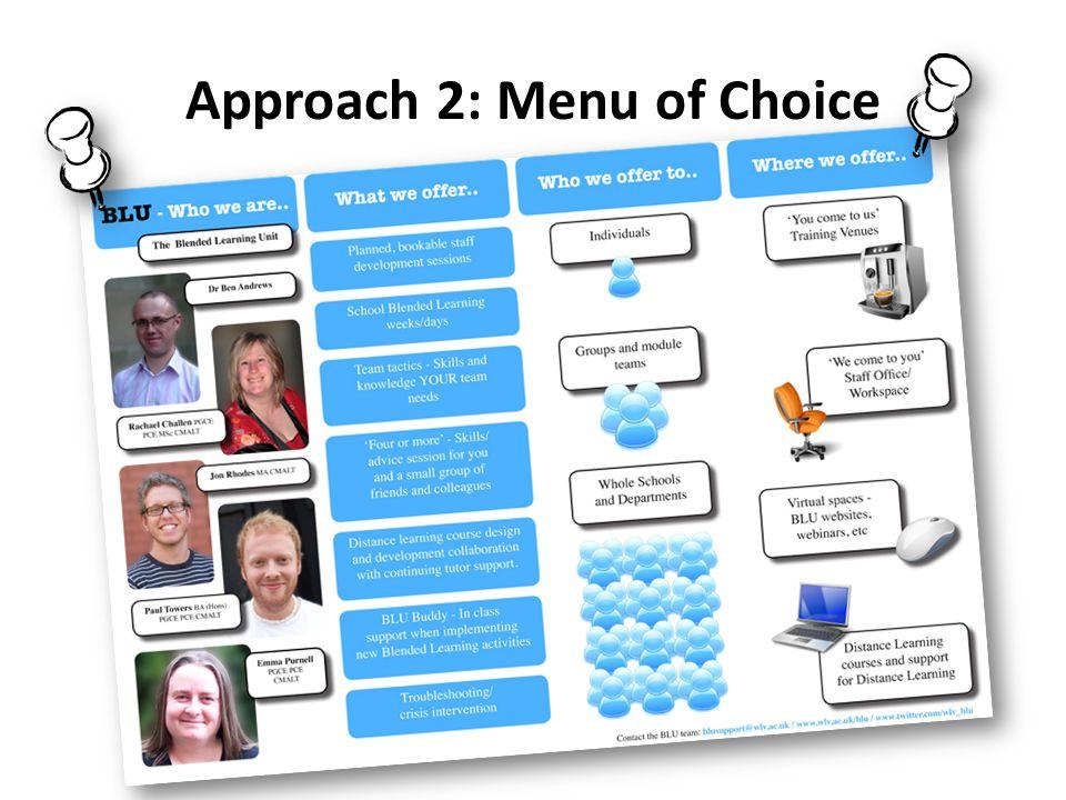 Approach 2: Menu of Choice