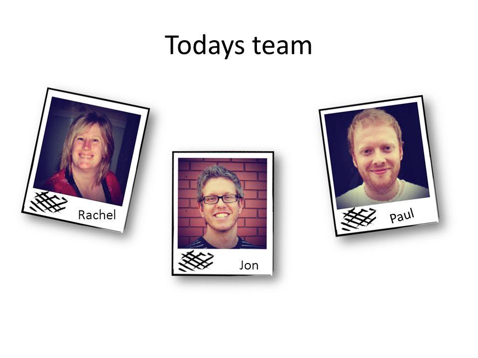 Todays team Rachel Jon Paul