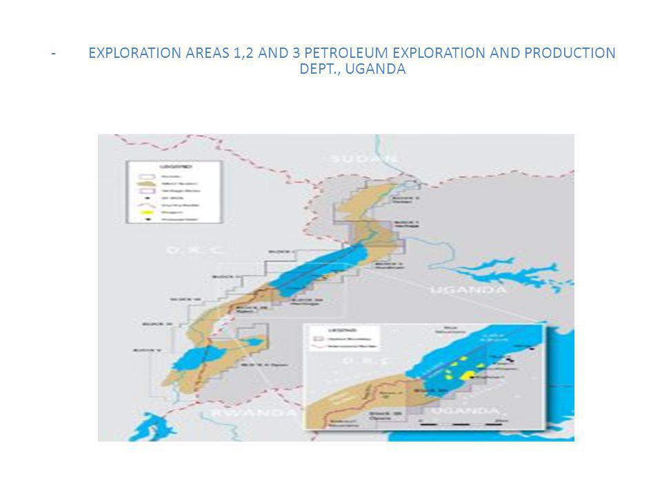 -EXPLORATION AREAS 1,2 AND 3 PETROLEUM EXPLORATION AND PRODUCTION DEPT., UGANDA