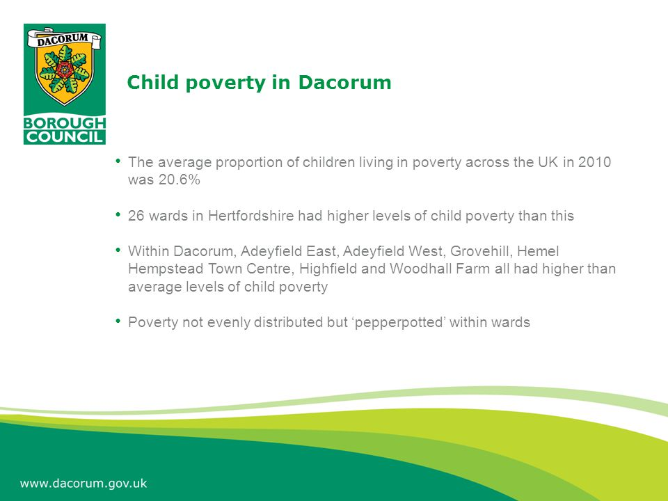 Child poverty in Woodhall Farm