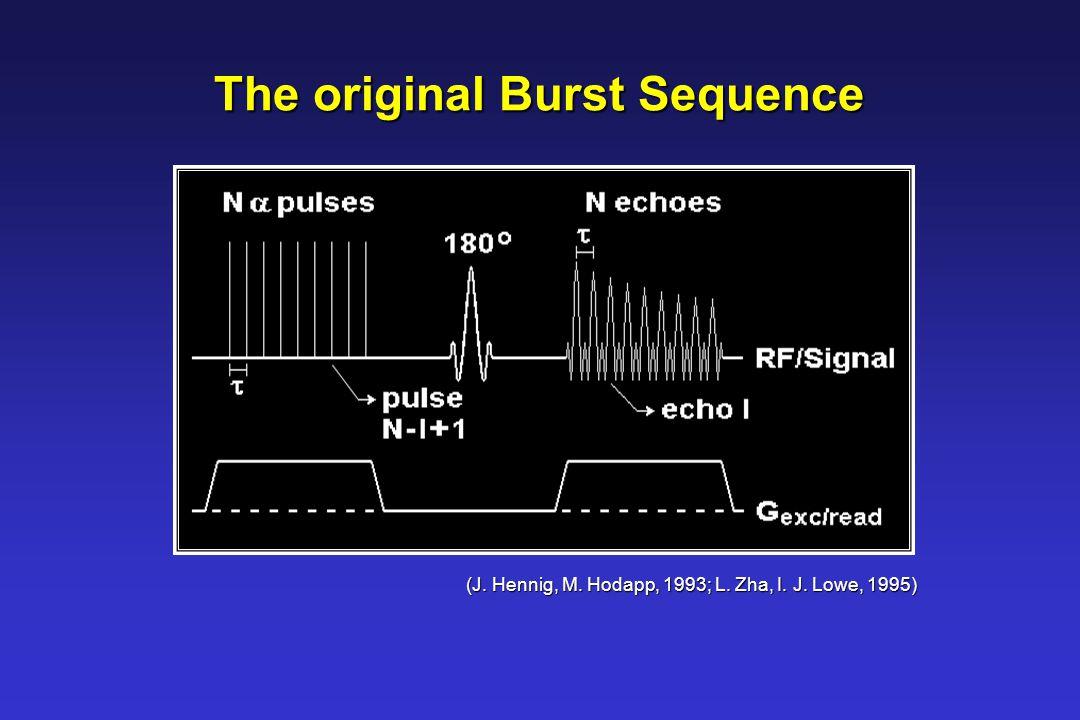 The original Burst Sequence (J. Hennig, M. Hodapp, 1993; L. Zha, I. J. Lowe, 1995)