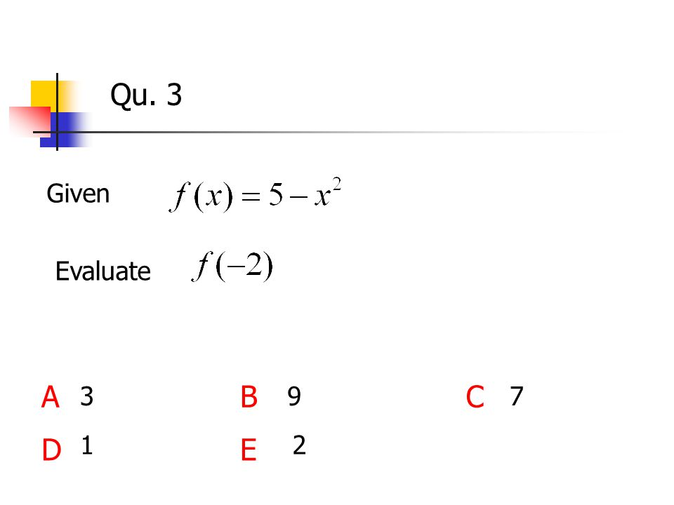 Qu. 3 Given ABC DE 1 Evaluate 397 2