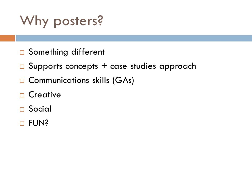 Why posters.