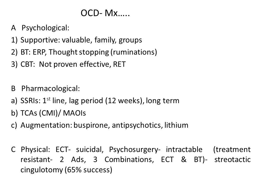 OCD- Mx…..