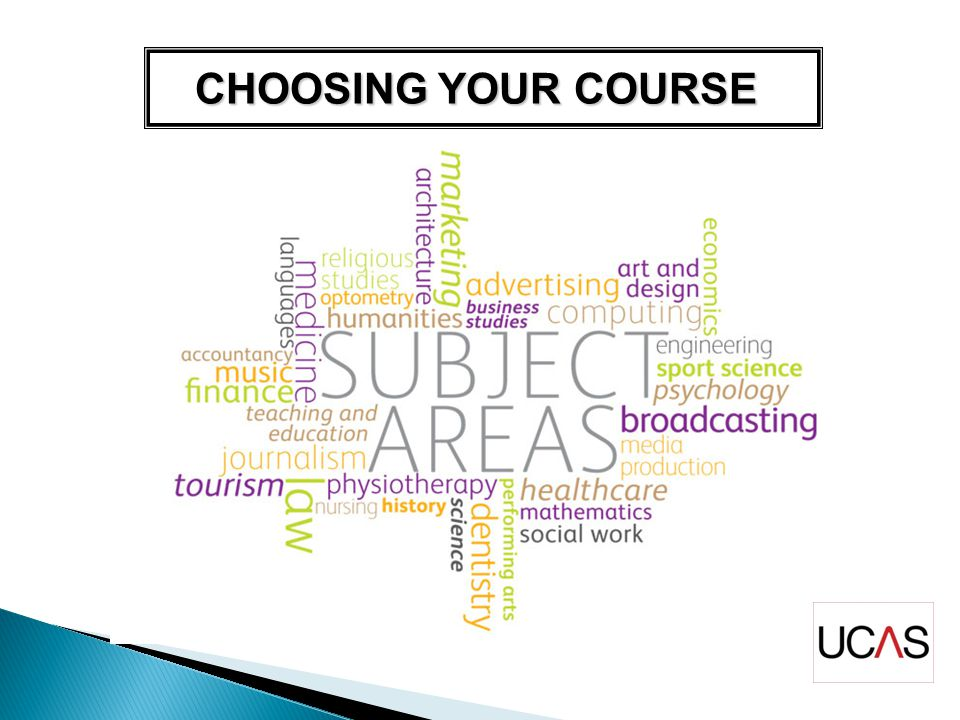 CHOOSING YOUR COURSE