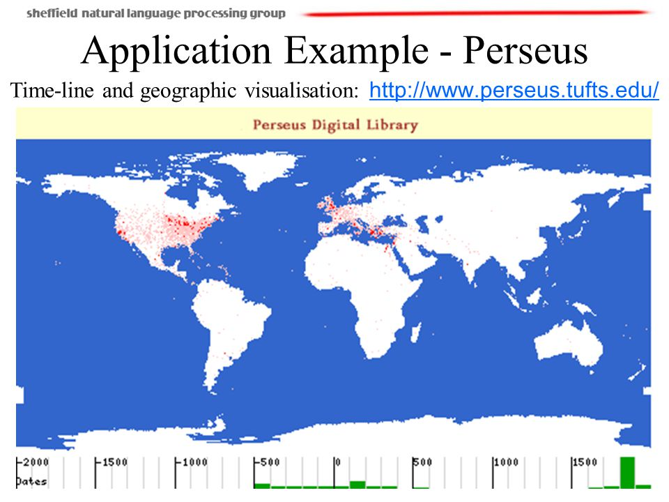 17(110) Application Example - Perseus Time-line and geographic visualisation: http://www.perseus.tufts.edu/http://www.perseus.tufts.edu/