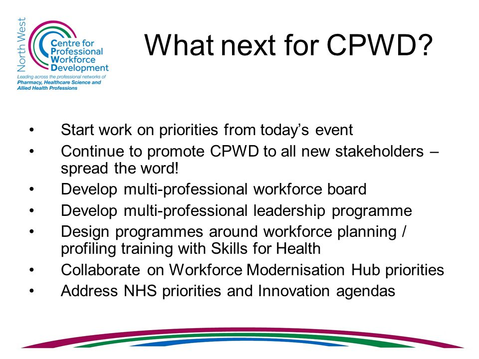 What next for CPWD.