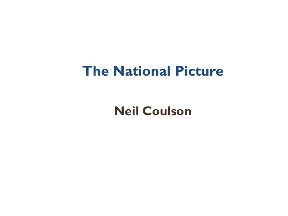 The National Picture Neil Coulson