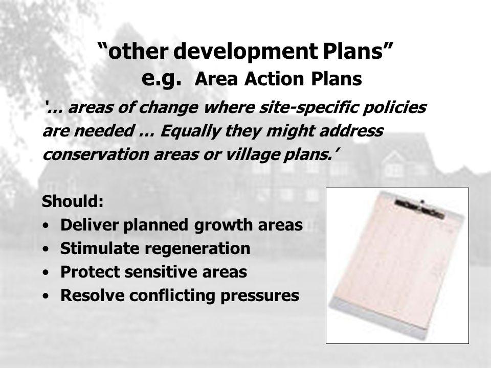 other development Plans e.g.