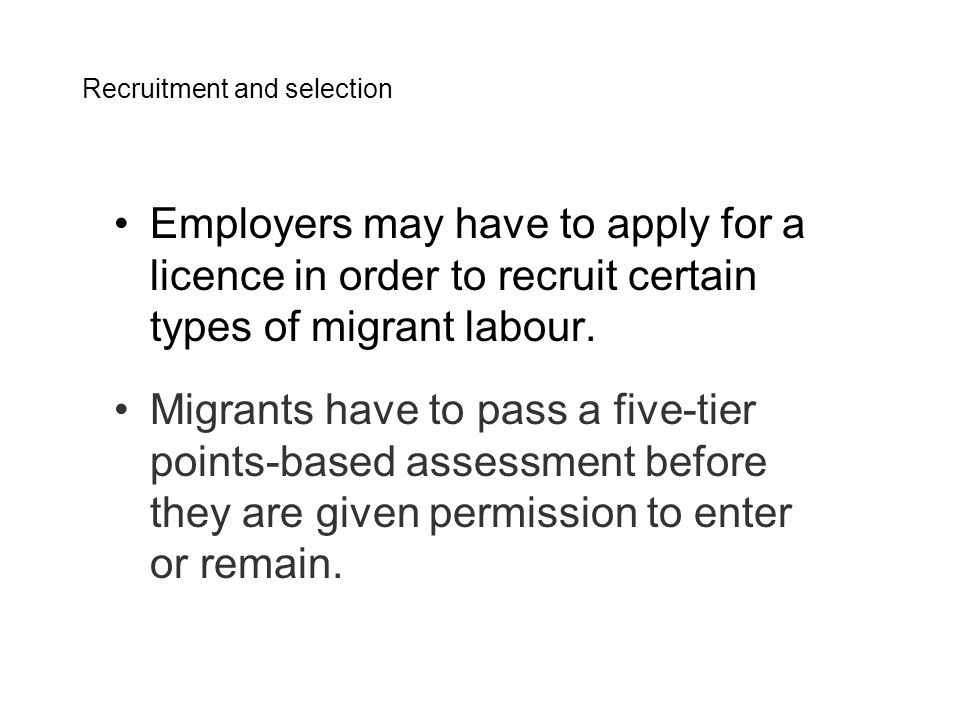 The number of points needed and the way they are awarded depend on the tier the migrants are applying under.