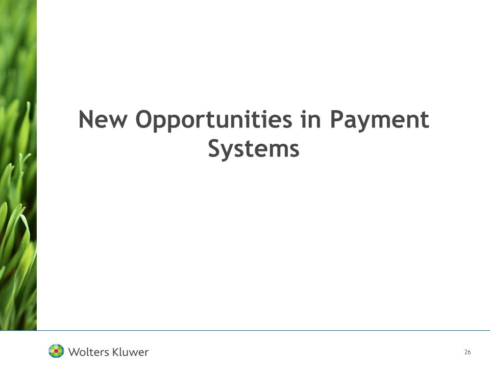 26 New Opportunities in Payment Systems
