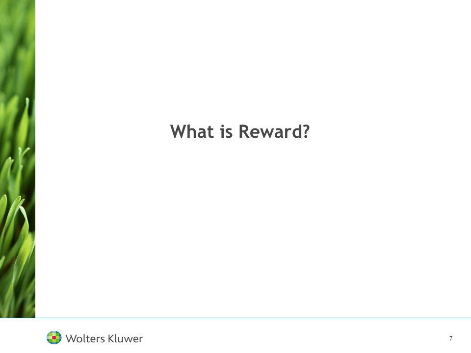 7 What is Reward