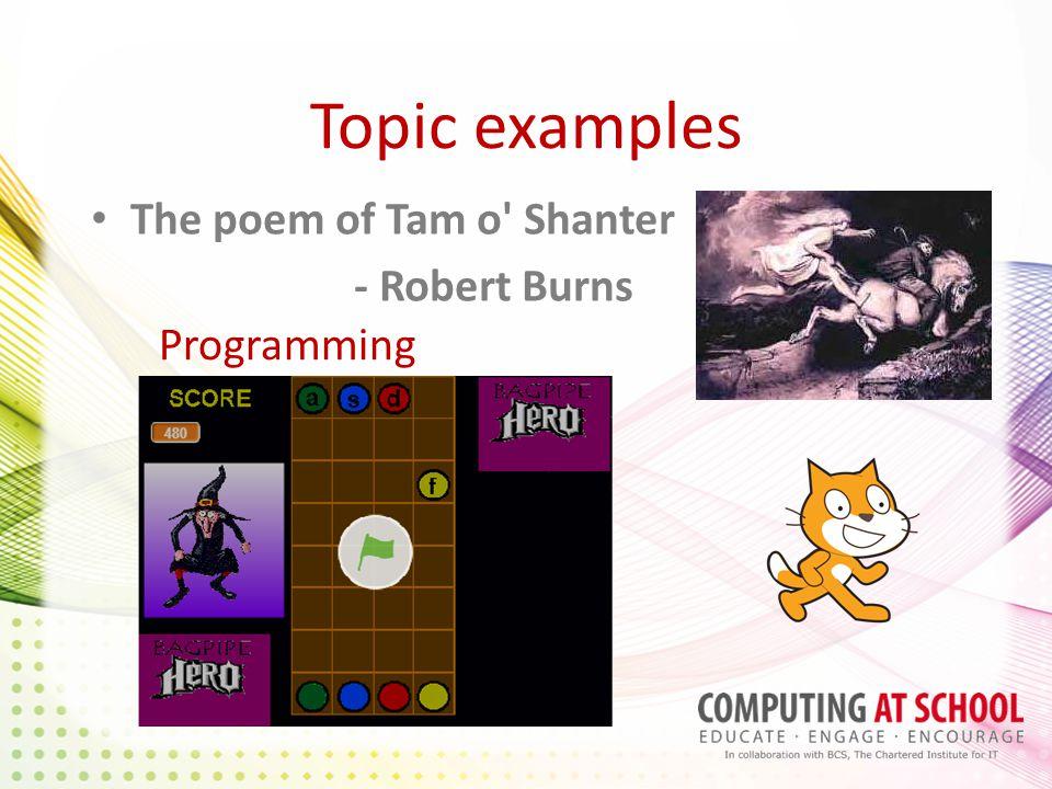 Topic examples The poem of Tam o' Shanter - Robert Burns Programming