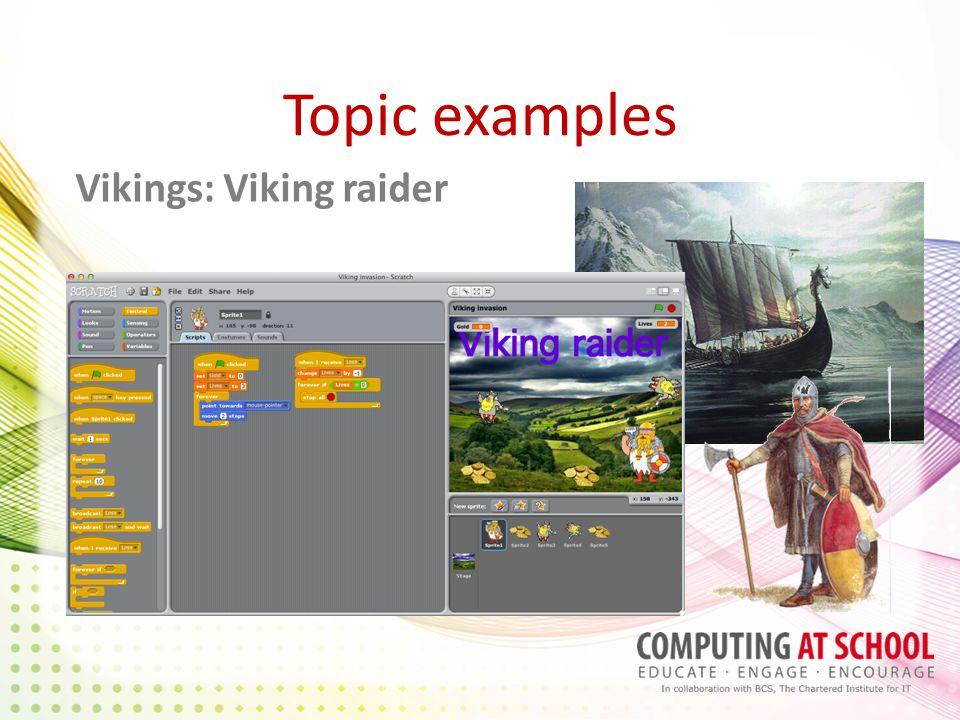Topic examples Vikings: Viking raider