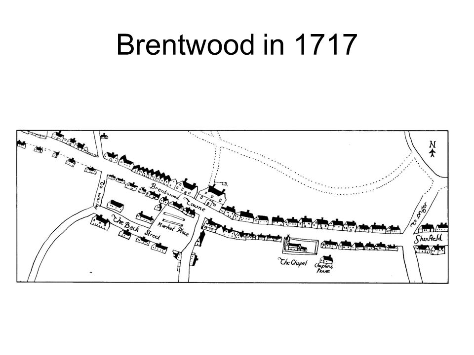 Brentwood in 1717