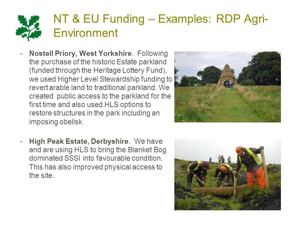 NT & EU Funding – Examples: RDP Main Grants 1 South West Cycle Partnership.