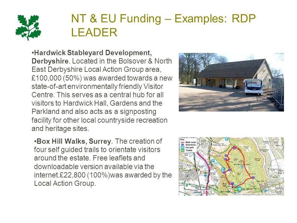 NT & EU Funding – Examples: RDP LEADER Hardwick Stableyard Development, Derbyshire.