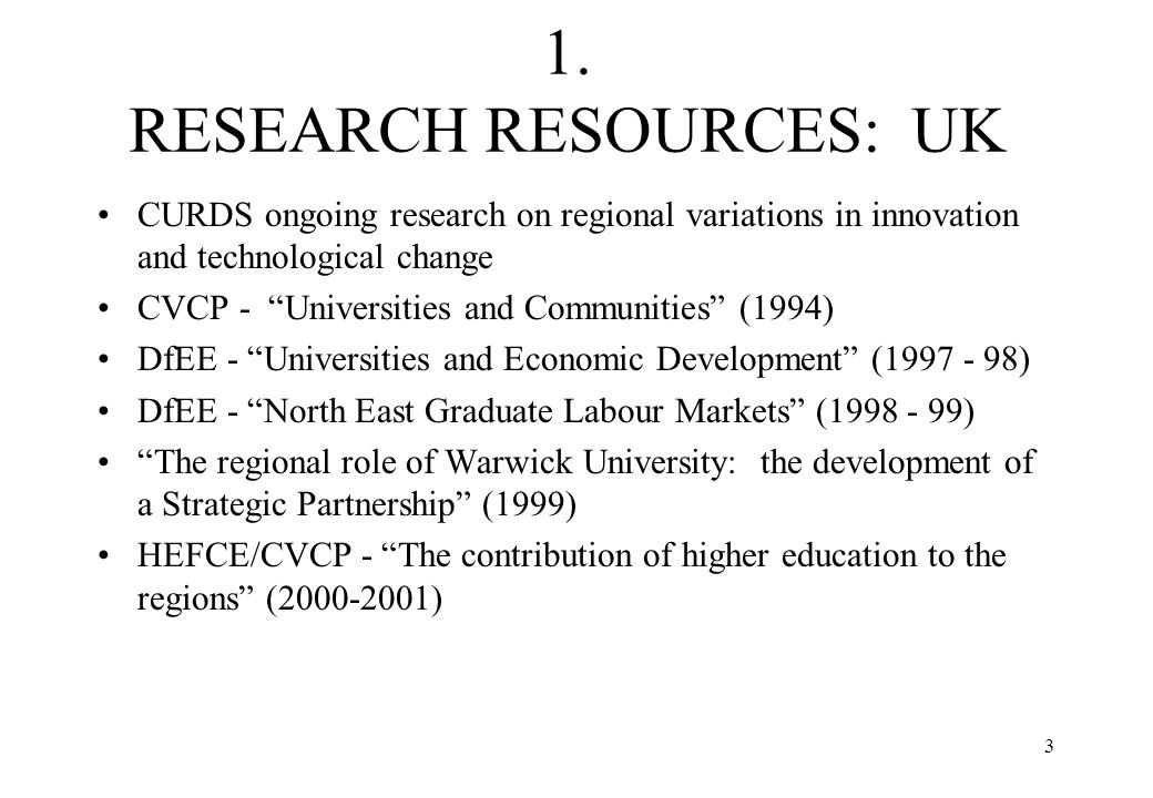 4 INTERNATIONAL RESEARCH OECD Programme on Institutional Management in Higher Education: The response of Universities to regional needs (1997-99) Committee of Rectors of European Universities (CRE) Dialogue of Universities with their regional partners (1997- 99) Finnish Higher Education Evaluation Council: The responsive university: the regional role of Eastern Finland universities (1997-99); External engagement and institutional adjustment: an evaluation of the University of Turku (1999 - 2000) EU 4th Framework Programme: UNIREG (UK, Ireland, Finland, Netherlands, Germany, Spain, Greece) (1999 - 2001)