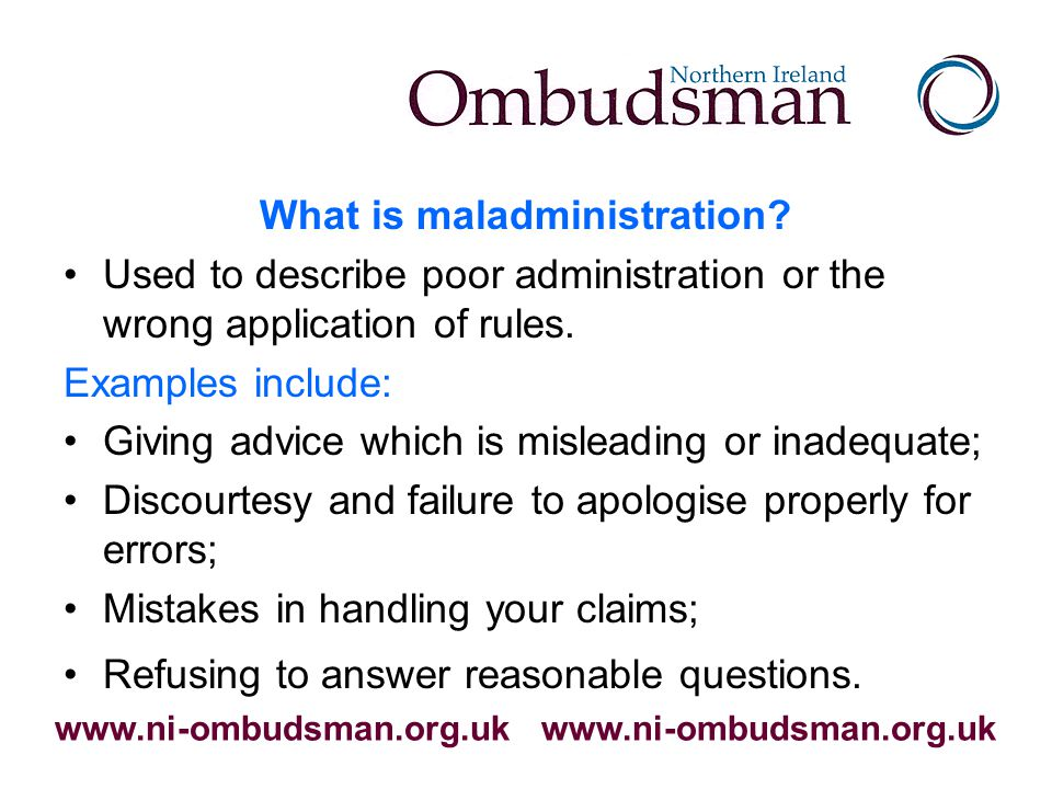 Who else can the Ombudsman investigate.