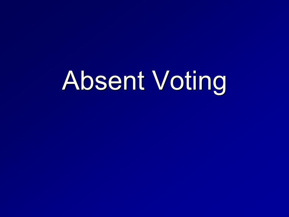 Absent Voting