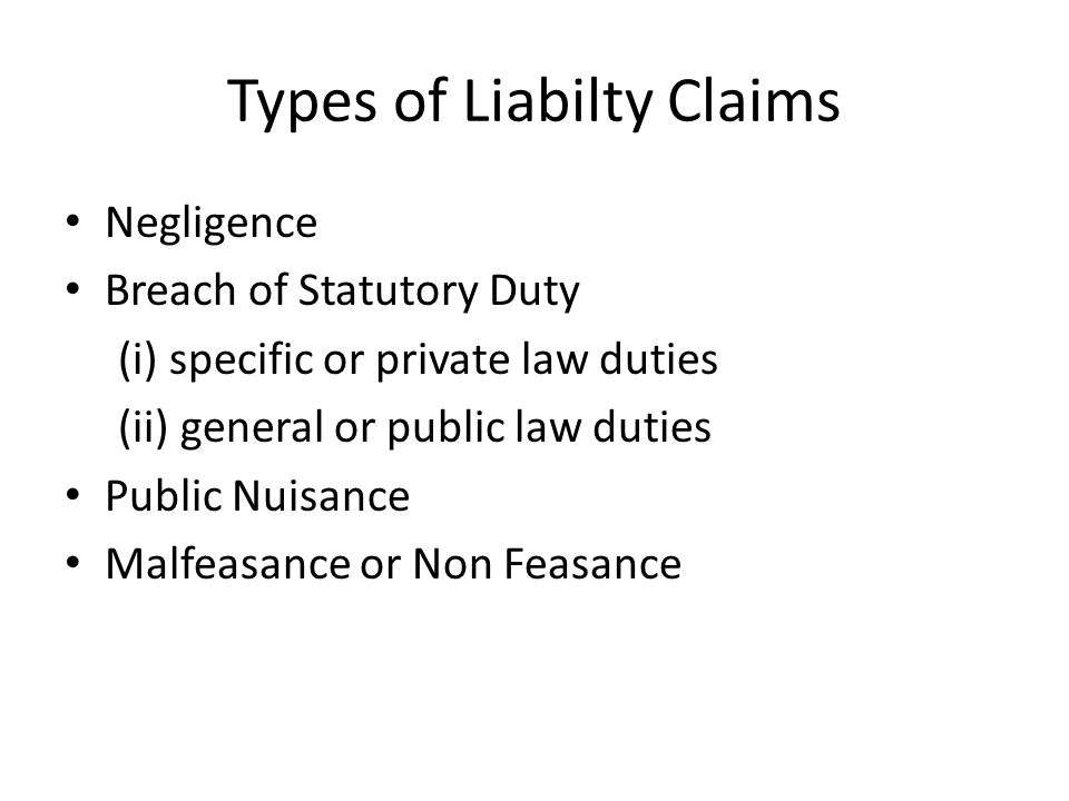 Personal Injury Claims General Damages -- Pain and Suffering Special Damages -- Loss of earnings or prospects, special needs eg.