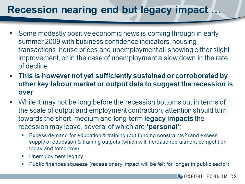 Recovery – still a significant demand for labour  Even without a return to growth of the past decade still a significant demand for labour  On average 16,000 jobs available pa without any net increase in total jobs  Growth of 7,000 net new jobs pa is more sustainable for NI – consistent with education outturn and moderate in- migration  But not just about flows – non- employed stock from recession era.