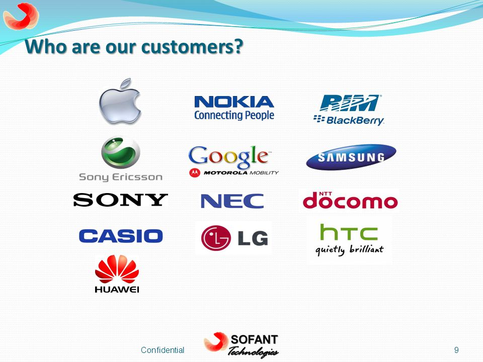 Who are our customers Confidential9