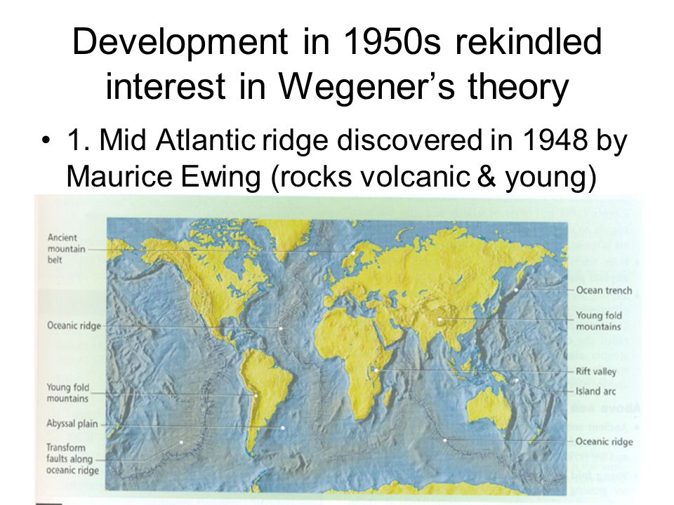 Development in 1950s rekindled interest in Wegener's theory 1.