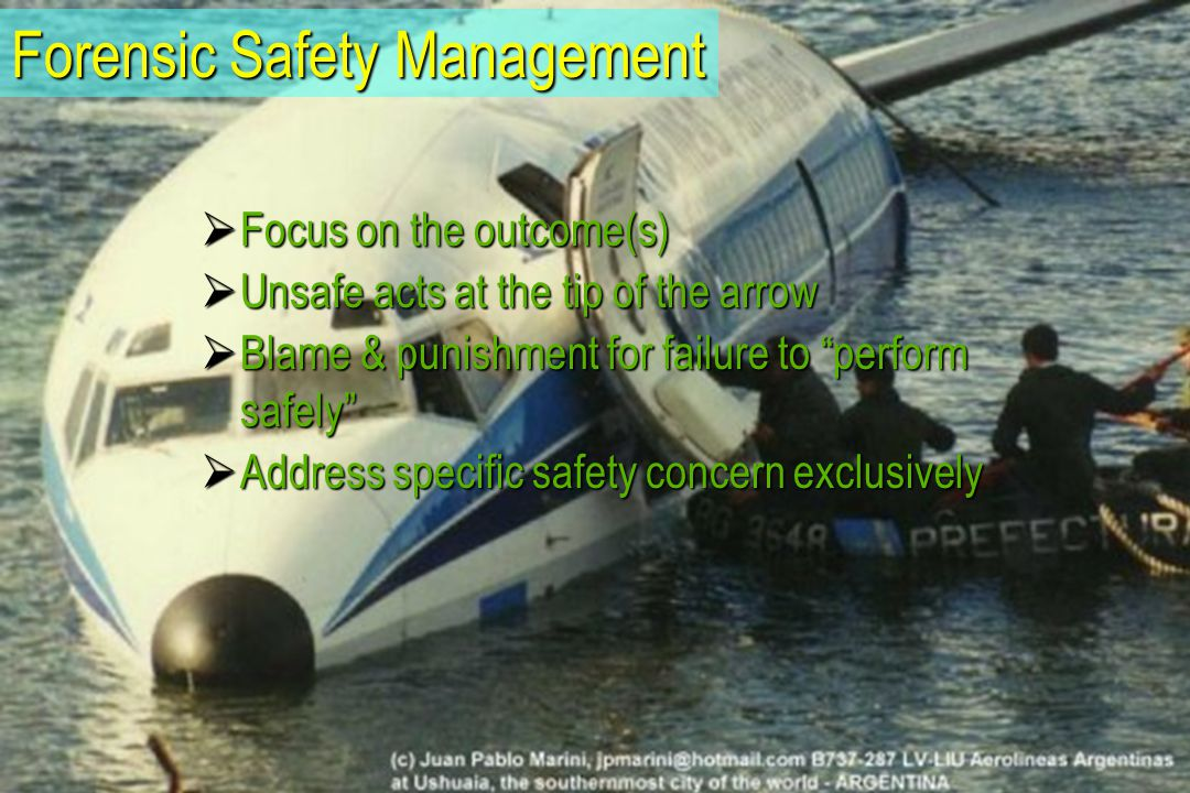 The Underlying Paradigm–Rule-based System Deterministic – The world as it should be  Aviation system – as pre-specified – is perfect  Compliance based  Outcome oriented Accident investigation Accident investigation