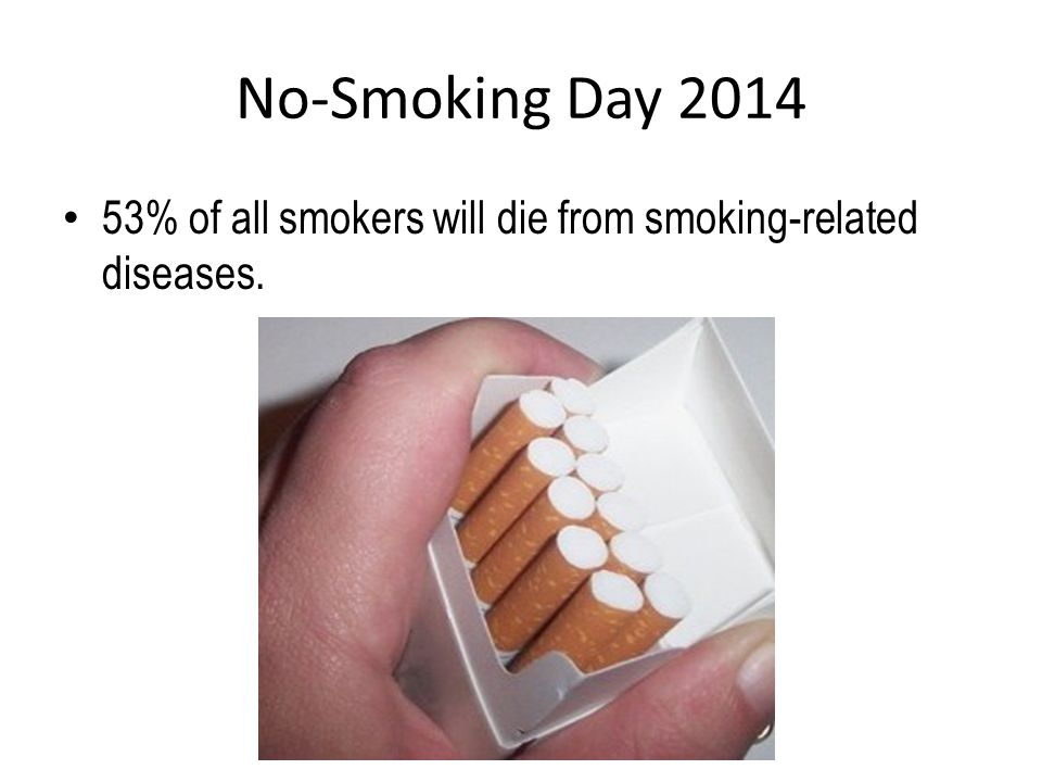 No-Smoking Day 2014 A famous saying is everything in moderation .
