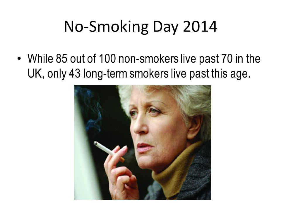 No-Smoking Day 2014 In 1972, 47% of the UK's adult population smoked.