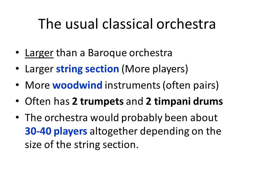Mozart's Orchestra for 'Symphony No.