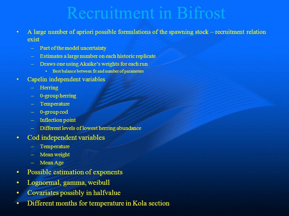 Recruitment in Bifrost Capelin Cod