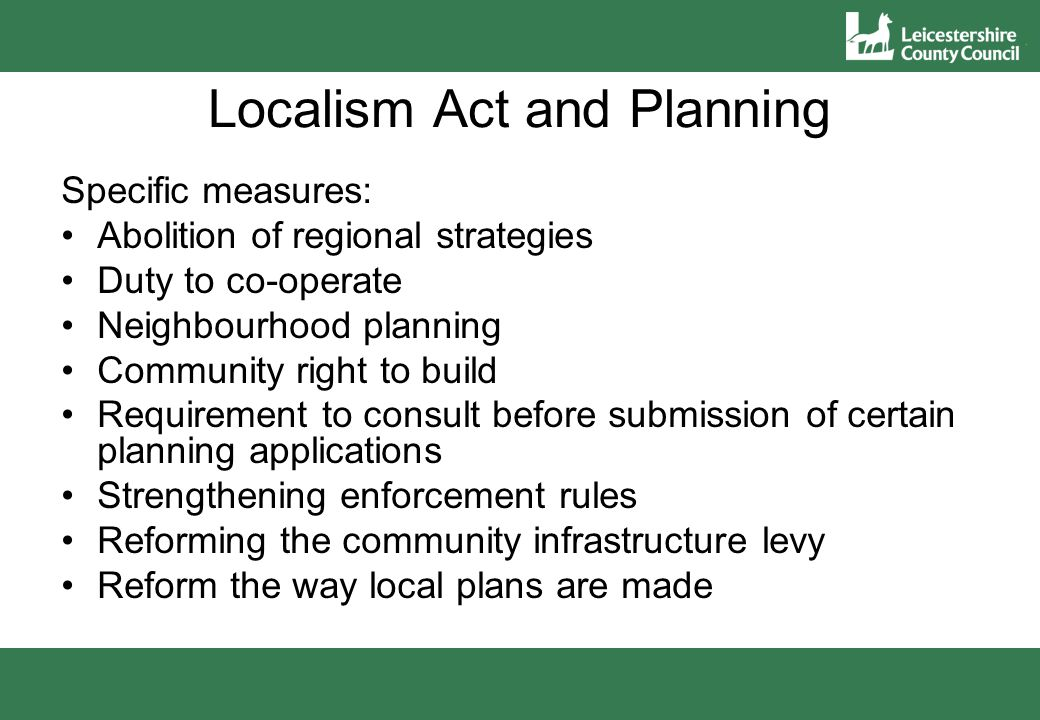 Support to Parish Councils regarding neighbourhood planning and the new planning system County Council has provided and continues to provides support to neighbourhood planning front runners in Leicestershire Level of support has varied Most involvement to date has been with the Fosse Villages Neighbourhood Plan (FVNP)
