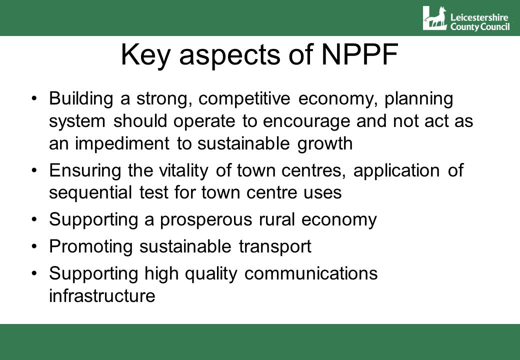30 A Neighbourhood Plan cannot: be in conflict with national policy or strategic policies in Local Plan consider county matters, major infrastructure and waste be used to block development make policies beyond plan area