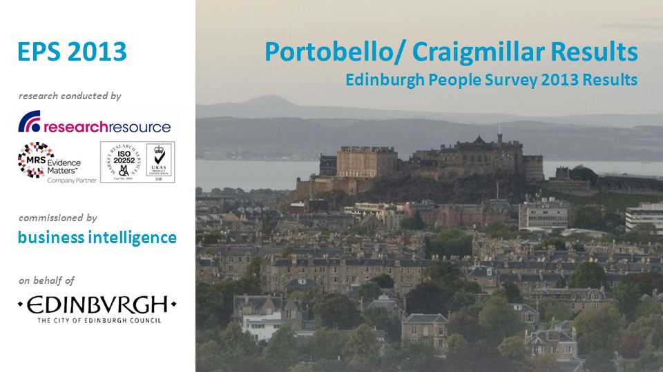 Portobello/ Craigmillar Results Edinburgh People Survey 2013 Results business intelligence research conducted by commissioned by on behalf of EPS 2013