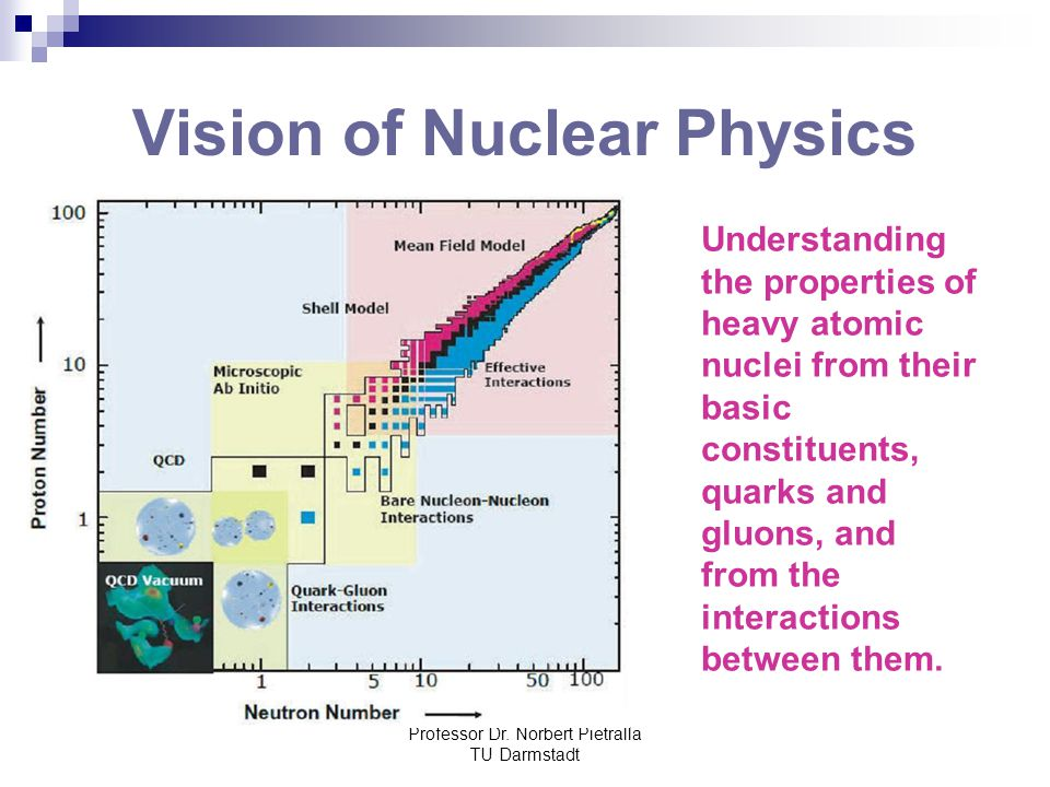 Professor Dr. Norbert Pietralla TU Darmstadt Vision of Nuclear Physics Understanding the properties of heavy atomic nuclei from their basic constituen