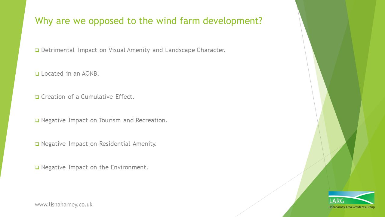 Impact on Residential Amenity  Estate Agents are briefing potential buyers of proposed wind farm in our area.