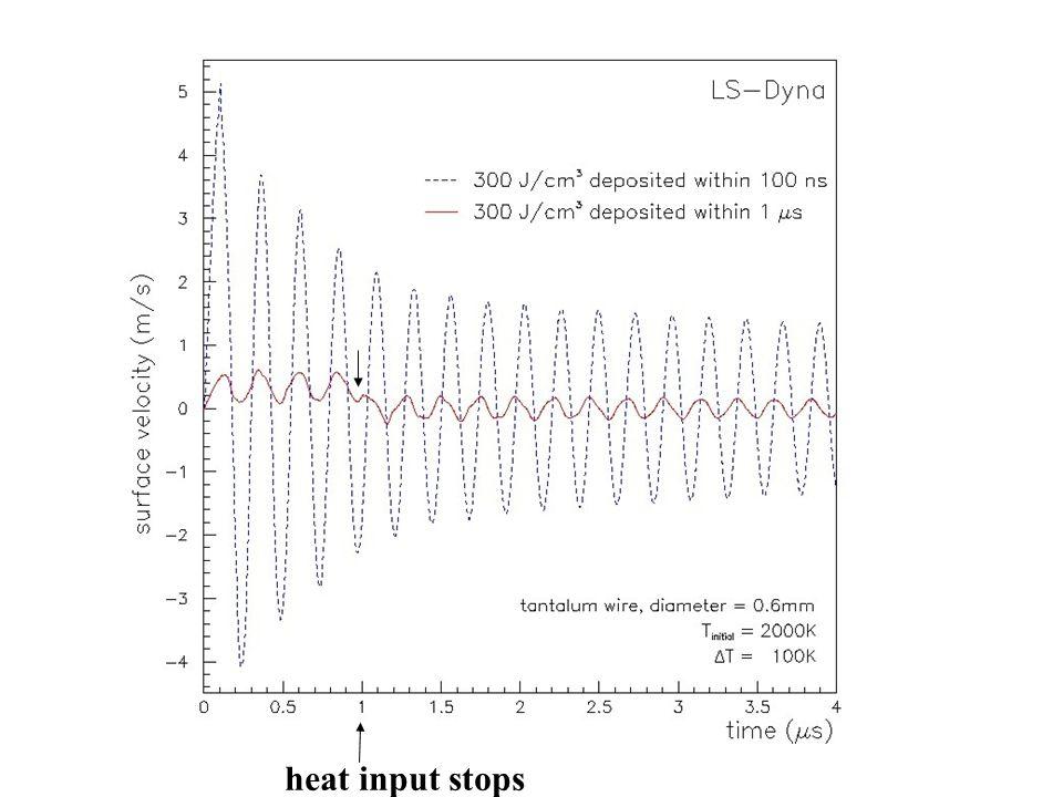 heat input stops