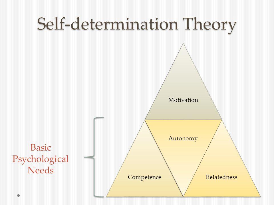 Self-determination Theory Basic Psychological Needs MotivationCompetence Autonomy Relatedness