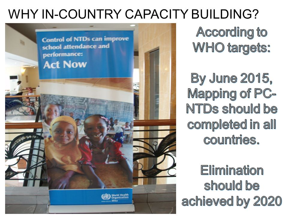 WHY IN-COUNTRY CAPACITY BUILDING