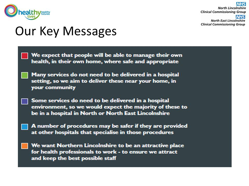 Our Key Messages