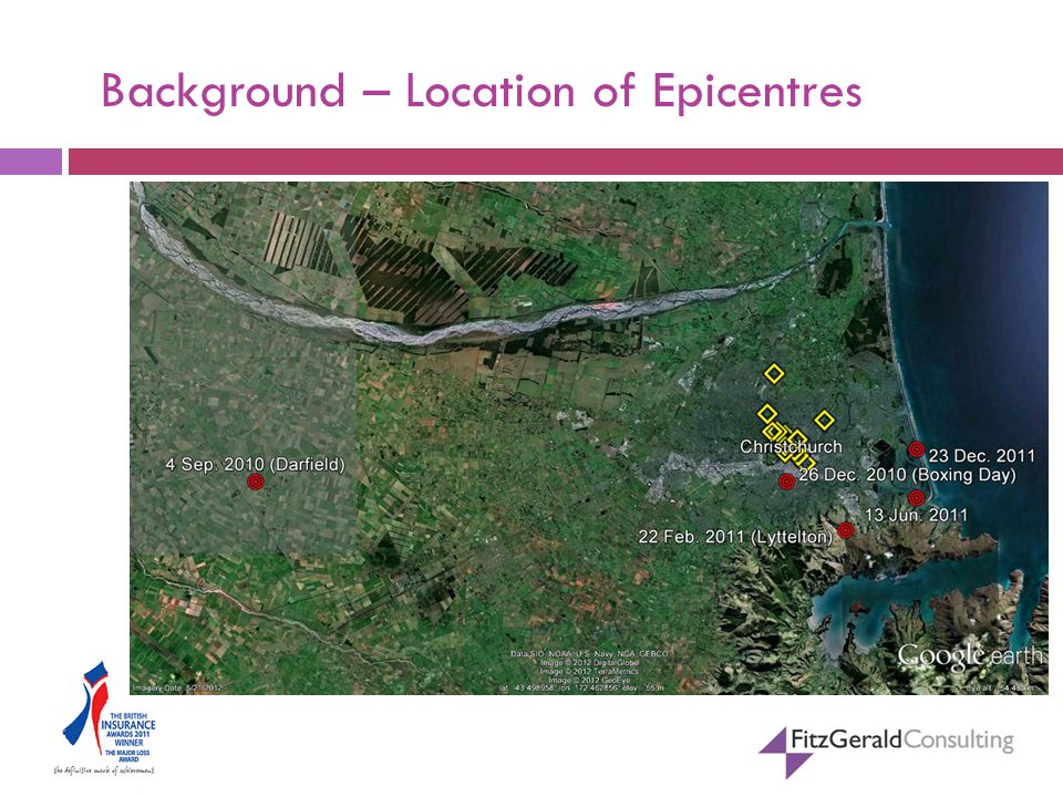 Background – Location of Epicentres