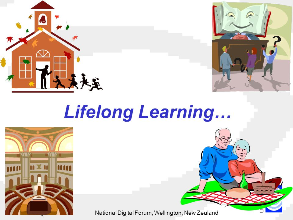 15 May 2002National Digital Forum, Wellington, New Zealand 37 Lifelong Learning…